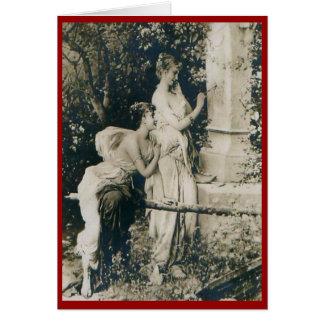 Lesbian Valentine Girls Vintage Greeting Card