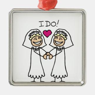 Lesbian Wedding Bridal Christmas Ornament