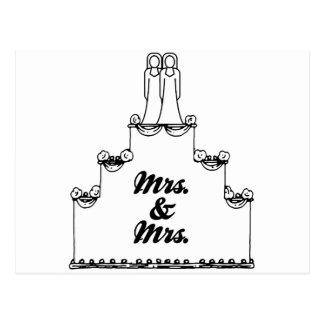 LESBIAN WEDDING CAKE MRS AND MRS - -  - .png Postcards
