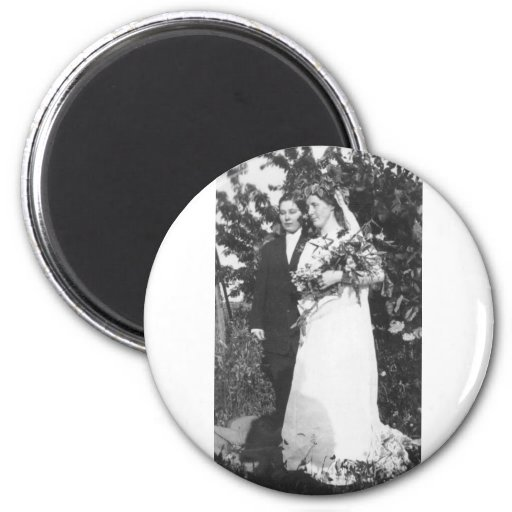 Lesbian Wedding Circa 1920 6 Cm Round Magnet