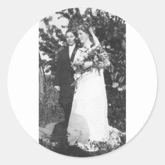 Lesbian Wedding Circa 1920 Round Sticker