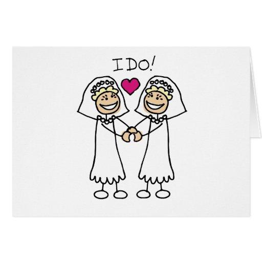 Lesbian Wedding Day Card