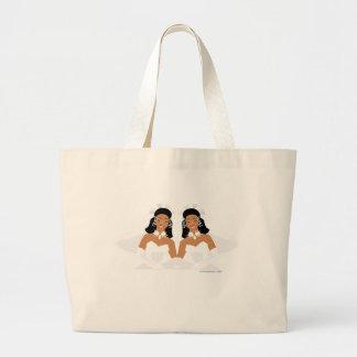Lesbian Wedding Favors Jumbo Tote Bag