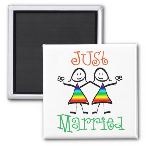 Lesbian Wedding Favors Magnets