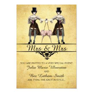 Lesbian Wedding - Gothic Steampunk Style Card