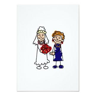 Lesbian Wedding One Bride Invitations
