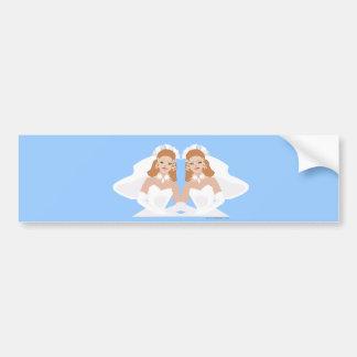 Lesbian Wedding Sticker Bumper Sticker