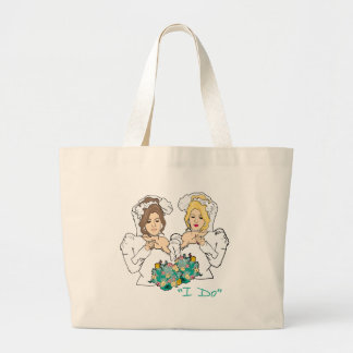 Lesbian Wedding Jumbo Tote Bag