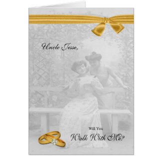 Lesbian Wedding Walk With Me Request Two Brides Greeting Card