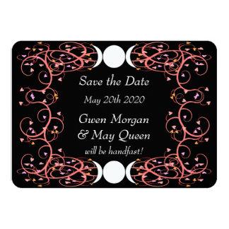 Lesbian Wiccan Wedding Save the Date Card 11 Cm X 16 Cm Invitation Card