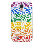 LESBIAN WORD PATTERN COLOR