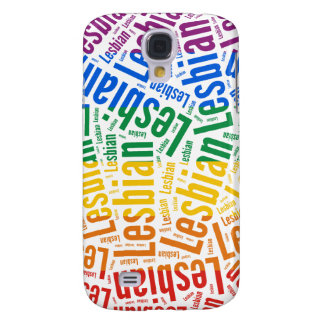 LESBIAN WORD PATTERN COLOR GALAXY S4 CASE