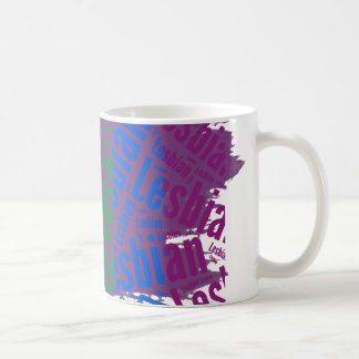 LESBIAN WORD PATTERN COLOR -.png Coffee Mugs