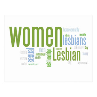Lesbian Words Postcard
