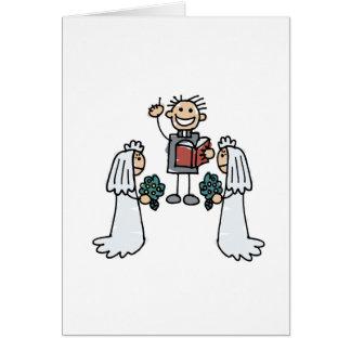 Lesbians & Preacher Card