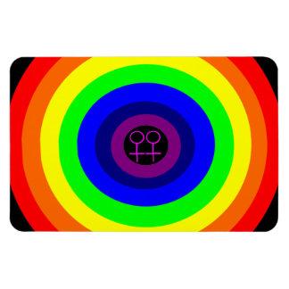 Lesbians Round Rainbow Premium Magnet