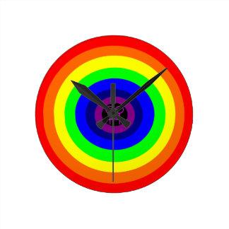 Lesbians Round Rainbow Wall Clock