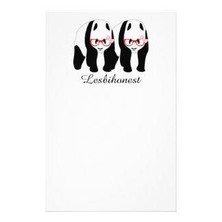 Lesbihonest pandas stationery