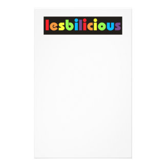 Lesbilicious (Banner) Stationery