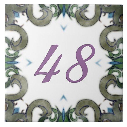 Leslie Big House Number Tile