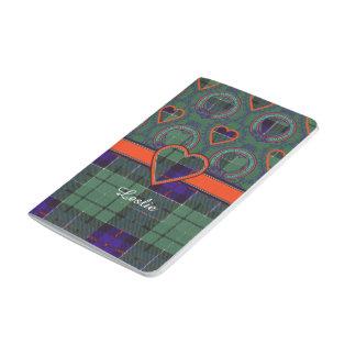 Leslie clan Plaid Scottish tartan Journal