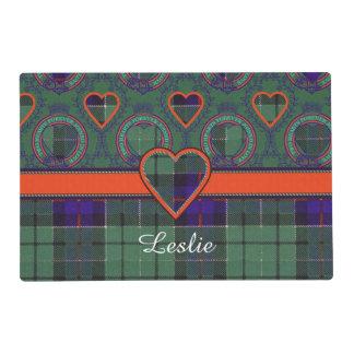 Leslie clan Plaid Scottish tartan Laminated Placemat