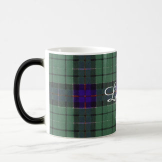 Leslie clan Plaid Scottish tartan Magic Mug