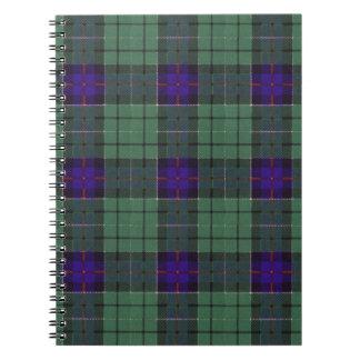 Leslie clan Plaid Scottish tartan Notebook