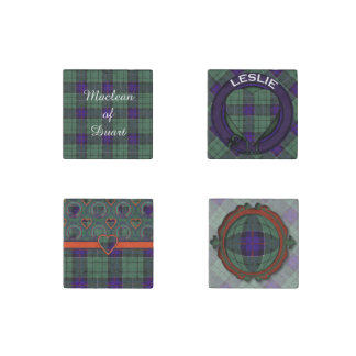 Leslie clan Plaid Scottish tartan Stone Magnet