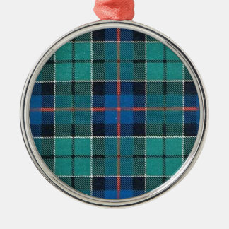 LESLIE FAMILY TARTAN CHRISTMAS ORNAMENT