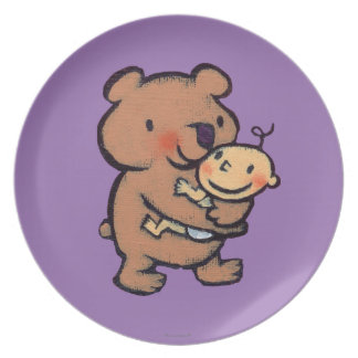Leslie Patricelli Big Brown Bear Hug Party Plates
