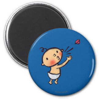 Leslie Patricelli Blow a Kiss Baby 6 Cm Round Magnet