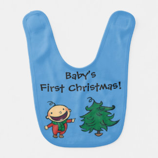 Leslie Patricelli's Baby Chooses a Christmas Tree Baby Bibs