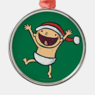 Leslie Patricelli's Baby Dancing In Santa Hat Christmas Ornament