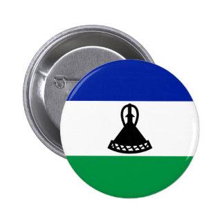 Lesotho Flag Button