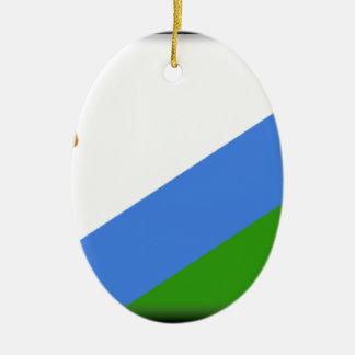 Lesotho Flag Christmas Tree Ornaments