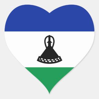 Lesotho Flag Heart Sticker