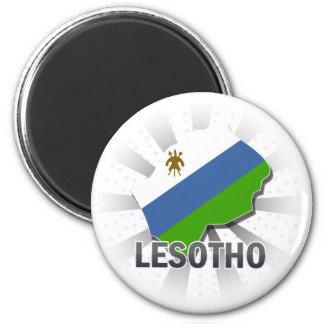 Lesotho Flag Map 2.0 Magnet