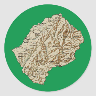 Lesotho Map Sticker