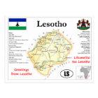 Lesptho map Postcard