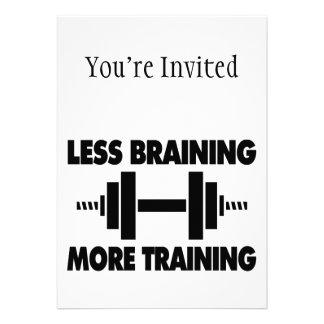 Less Braining More Training Card