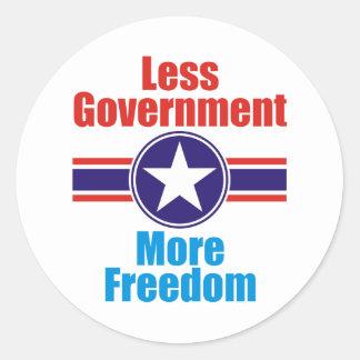 less government classic round sticker