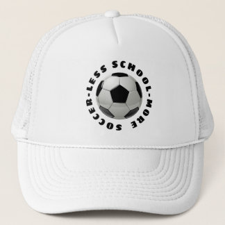 Less School More Soccer Trucker Hat