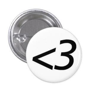Less Than Three 3 Cm Round Badge