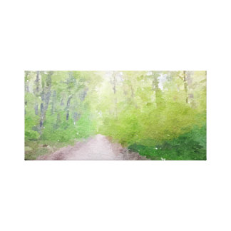 Less Traveled Path Abstract Watercolor Canvas Print