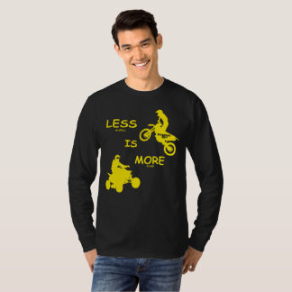 Less (wheels) Is More (fun)!  In Suzuki Colors T-Shirt