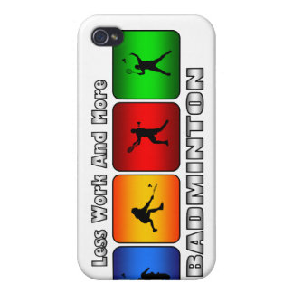 Less Work And More Badminton iPhone 4/4S Case