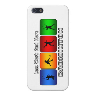 Less Work And More Badminton iPhone 5/5S Cover