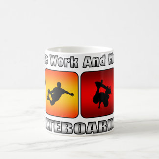 Less Work And More Skateboarding Coffee Mug