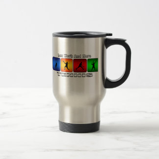 Less Work And More Tennis (Male) Travel Mug